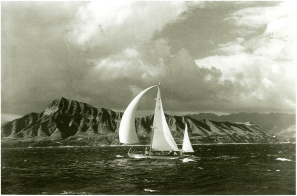 Off Diamond Head in 1936 (Honolulu Advertiser)