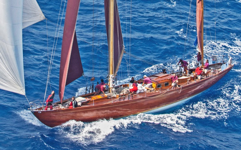 The magnificent 83' yawl, Agneta.