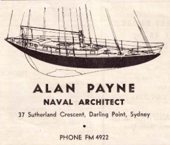 Alan Payne advert in the 1946 Seacraft Magazine