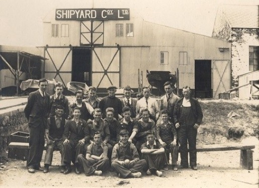 Bangor Shipyard in late 40's