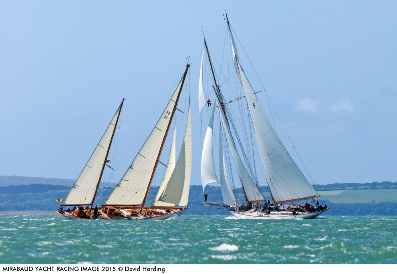 Sumurun & Eleonora at the Royal Yacht Squadron Bicentenary regatta, 2015