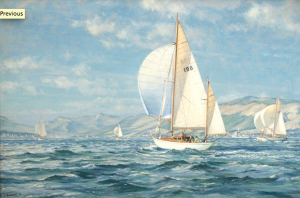 "John Stobart's ""Navara Races on the Clyde"""