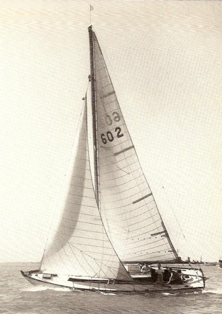 Minx of Malham black and white sailing