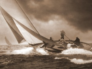 Yacht Clio with W Fife II at the helm