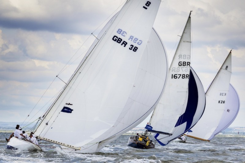 Erica, to the left of the photo, at Cowes Classics, 2014