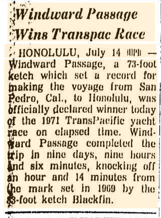 Windward Passage article