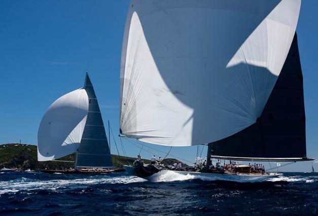 Ranger & Topaz at St Barths, 2016 - Cory Silken - Classic Yacht regattas