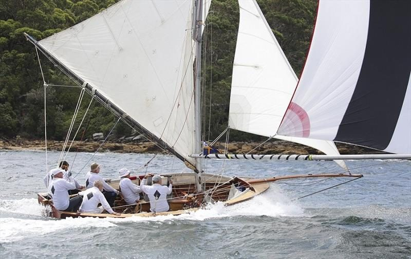 Aberdare, the historical 18 foot Australian skiff at the 2016 Championships - Classic Yacht regattas