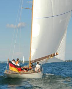 Emily under sail